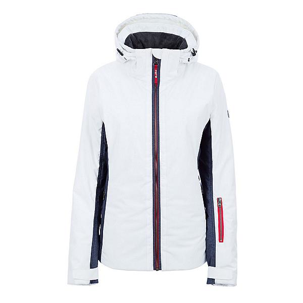 FERA Kendall Womens Insulated Ski Jacket, White Cloud-Denim, 600