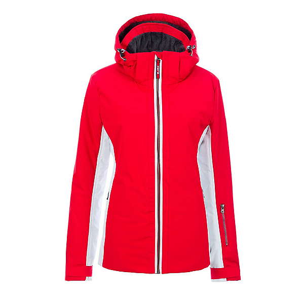 FERA Kendall Womens Insulated Ski Jacket 2020, Red-White, 600