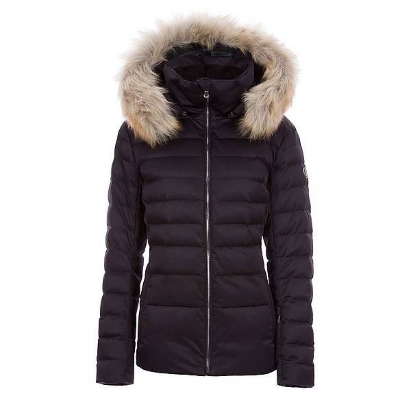 FERA Julia Faux Fur Womens Insulated Ski Jacket, Black, 600