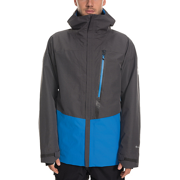 686 GLCR Gore-Tex GT Mens Shell Snowboard Jacket 2020, Strata Blue Colorblock, 600