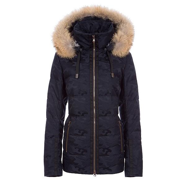 FERA Harper Real Fur Womens Insulated Ski Jacket, Midnight Camo, 600