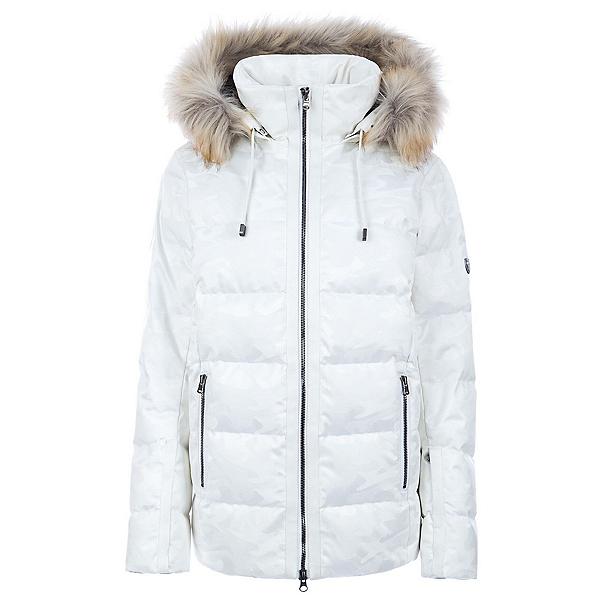 FERA Harper Faux Fur Womens Insulated Ski Jacket, White Camo, 600