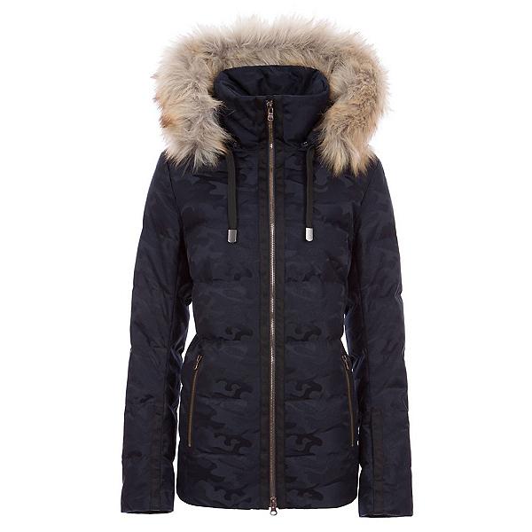 FERA Harper Faux Fur Womens Insulated Ski Jacket, Midnight Camo, 600