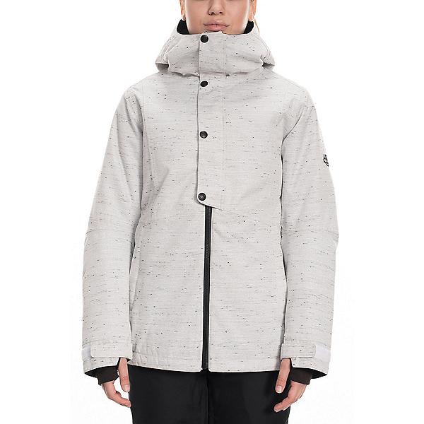 686 Rumor Womens Insulated Snowboard Jacket 2020, White Slub, 600