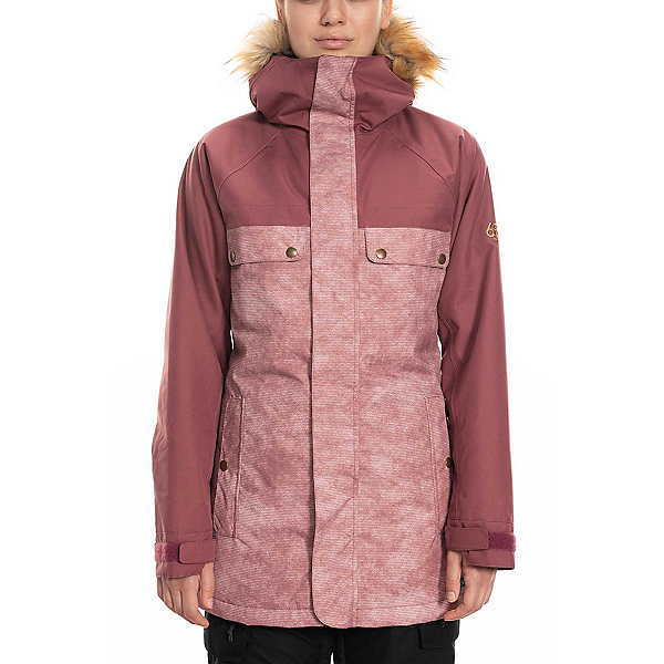 686 Dream Womens Insulated Snowboard Jacket 2020, Crushed Berry Wash Colorblock, 600