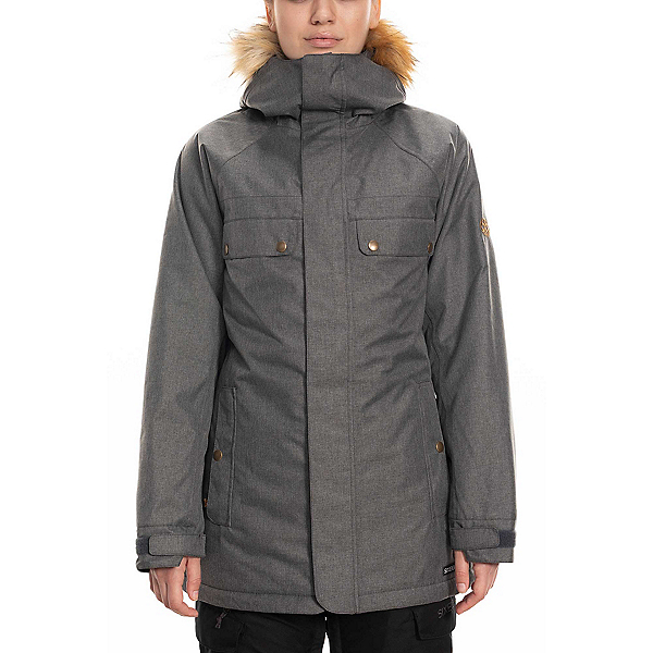 686 Dream Womens Insulated Snowboard Jacket 2020, Grey Melange, 600