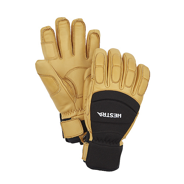 Hestra Vertical Cut Czone 5 Finger Gloves, Black-Tan, 600