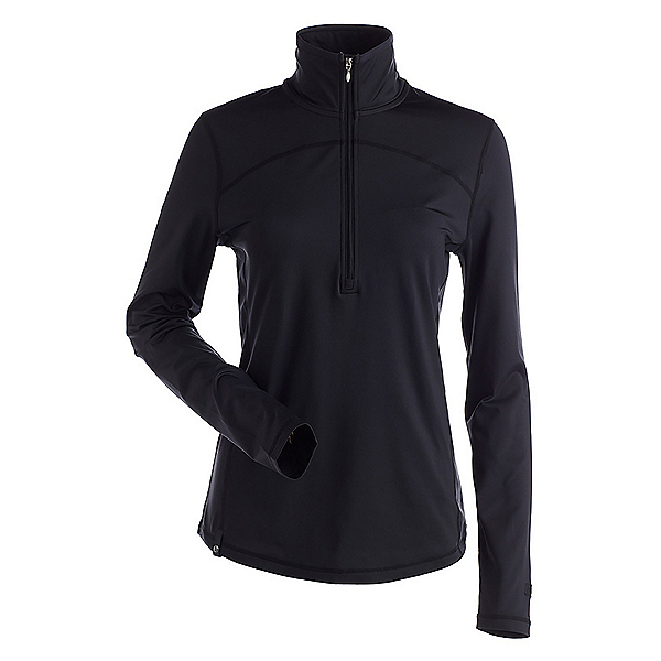 NILS Zevi Womens Long Underwear Top, Black, 600