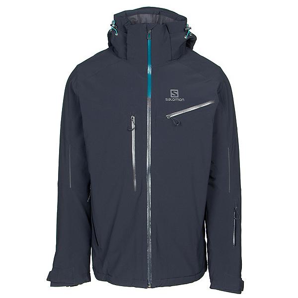 Salomon Icespeed Mens Insulated Ski Jacket, Night Sky-Night Sky, 600