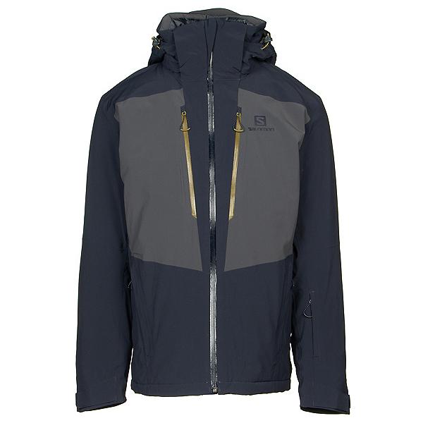Salomon Icefrost Mens Insulated Ski Jacket, Night Sky-Ebony, 600