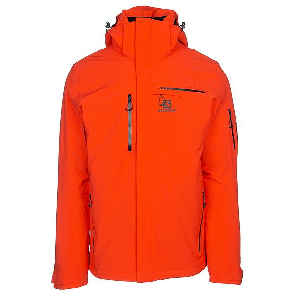 Salomon Brilliant Mens Insulated Ski Jacket, Cherry Tomato, 600