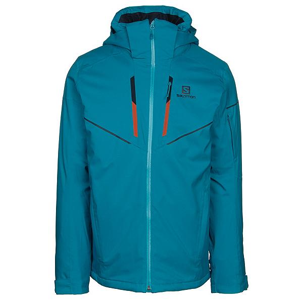 Salomon Stormrace Mens Insulated Ski Jacket, Fjord Blue, 600