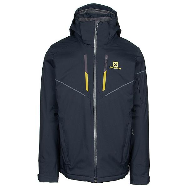Salomon Stormrace Mens Insulated Ski Jacket, Night Sky, 600