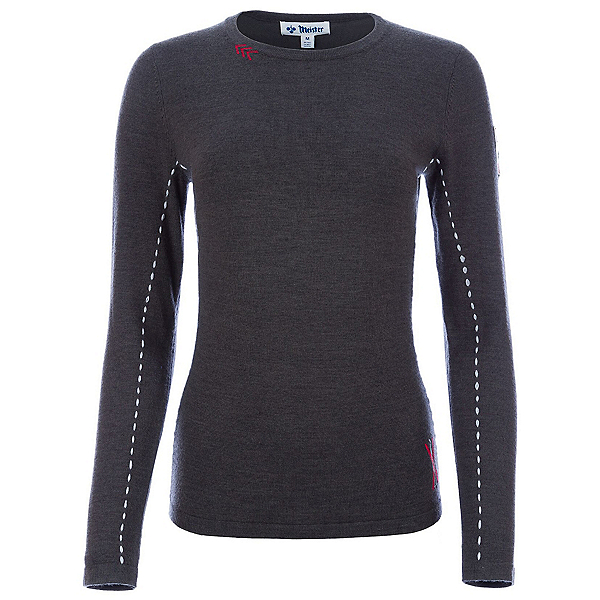 Meister  Womens Sweater, Charcoal Heather-Pearl Gray, 600