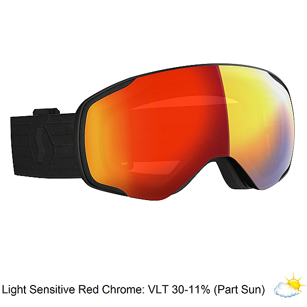 Scott Vapor LS Goggles 2020, Black-Lt Sensitive Red Chro, 600