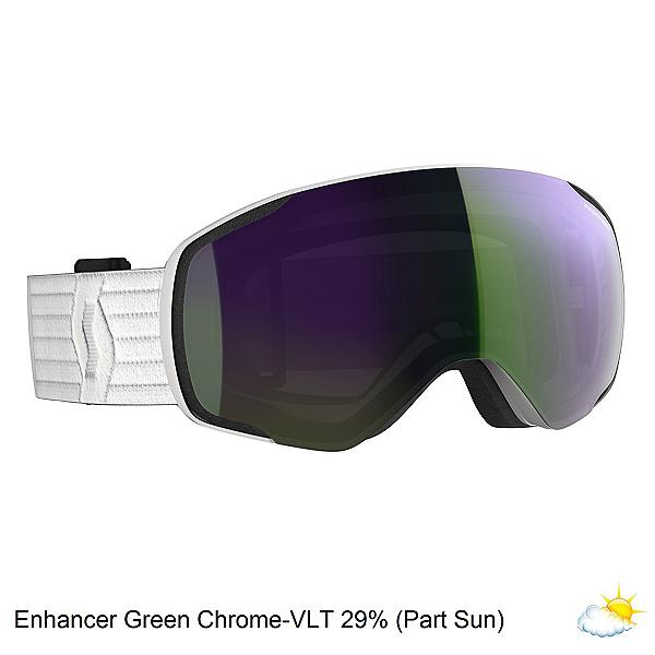 Scott Vapor Goggles 2020, White-Enhancer Green Chrome, 600