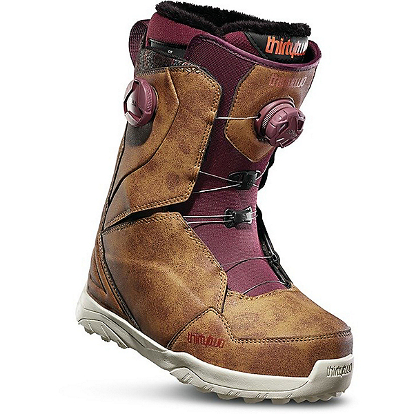 ThirtyTwo Lashed Double Boa Womens Snowboard Boots 2020, Brown, 600