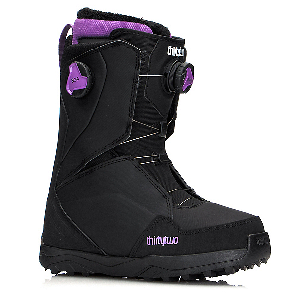 ThirtyTwo Lashed Double Boa Womens Snowboard Boots, Black-Purple, 600