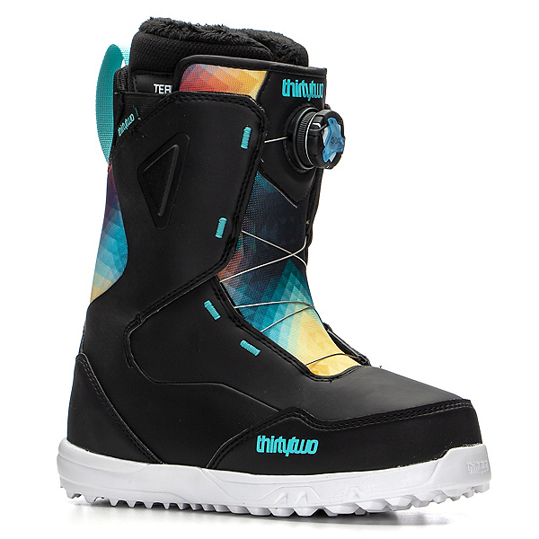 ThirtyTwo Zephyr Boa Boot Womens Snowboard Boots, Black-Blue-White, 600