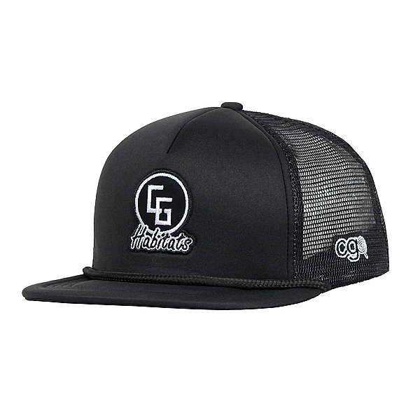 CandyGrind Habitats Trucker Mens Hat, Black, 600