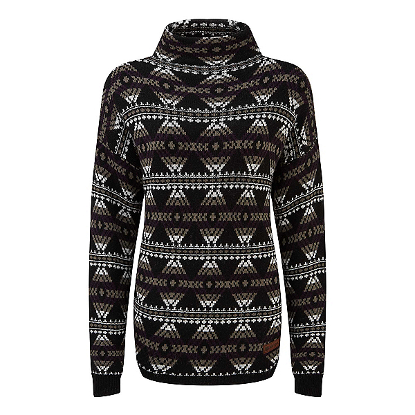 Sherpa Pema Pullover Womens Sweater, Black, 600
