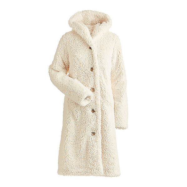 NILS Britta Fuzzy Long Womens Jacket, White, 600