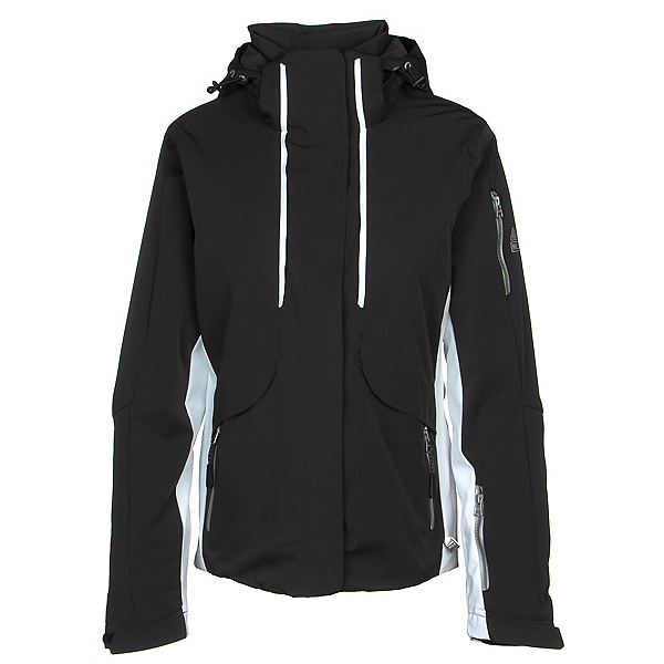 NILS Harlow Womens Insulated Ski Jacket, Black-White, 600