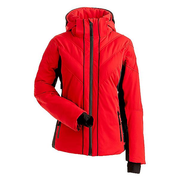 NILS Mika Womens Insulated Ski Jacket, Red-Black, 600