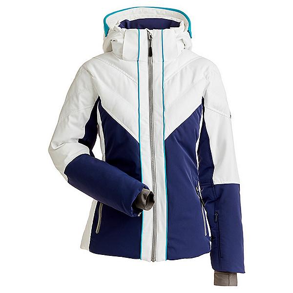 NILS Kaela Womens Insulated Ski Jacket, Navy-White-Aqua, 600