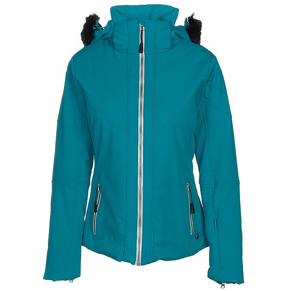 NILS Mikaela Faux Fur Womens Insulated Ski Jacket 2020, Aqua, 600