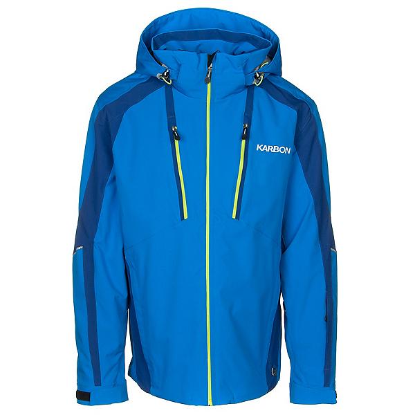 Karbon Neon Mens Insulated Ski Jacket 2020, Olympic Blue-Ink-Acid, 600