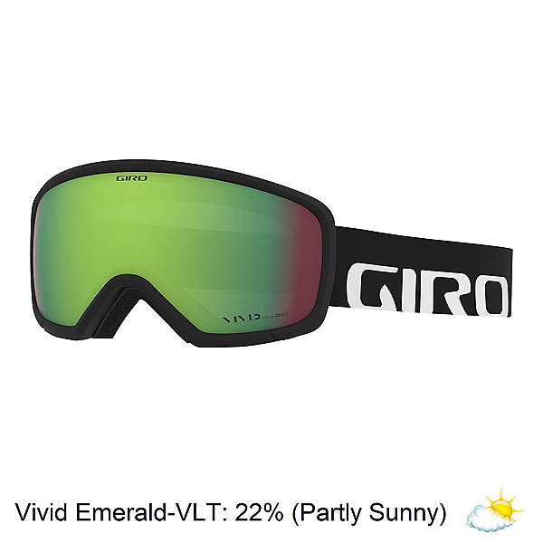 Giro Ringo Youth Goggles 2020, Black Woodmark-Vivid Emerald, 600