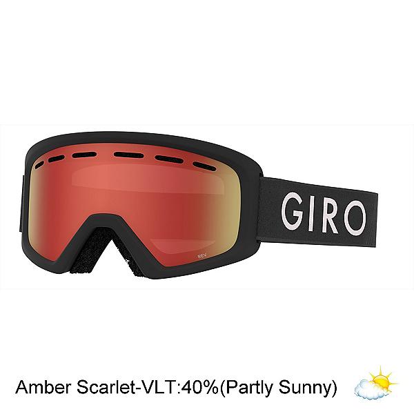 Giro Rev Youth Goggles 2020, Black Zoom-Amber Scarlet, 600