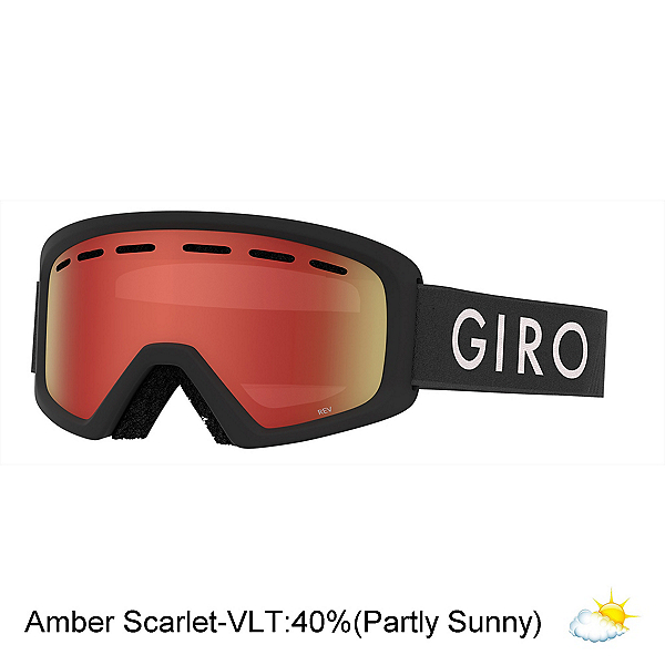 Giro Rev Youth Goggles, Black Zoom-Amber Scarlet, 600