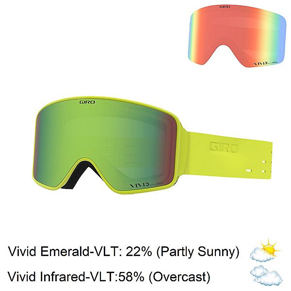 Giro Method Goggles 2020, Silicone Citron-Vivid Emerald + Bonus Lens, 600