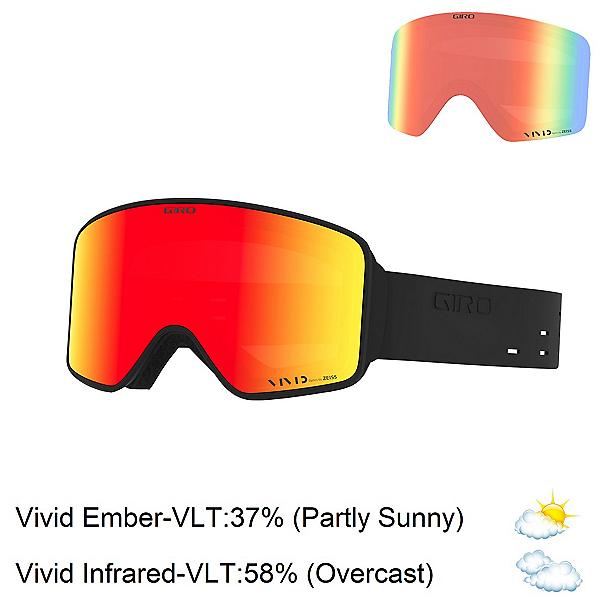 Giro Method Goggles, Silicone Black-Vivid Ember + Bonus Lens, 600