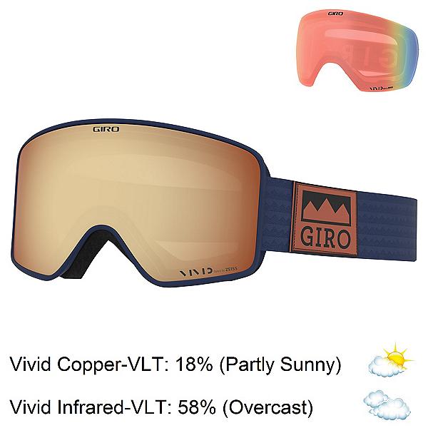 Giro Method Goggles, Midnight Alps-Vivid Copper + Bonus Lens, 600