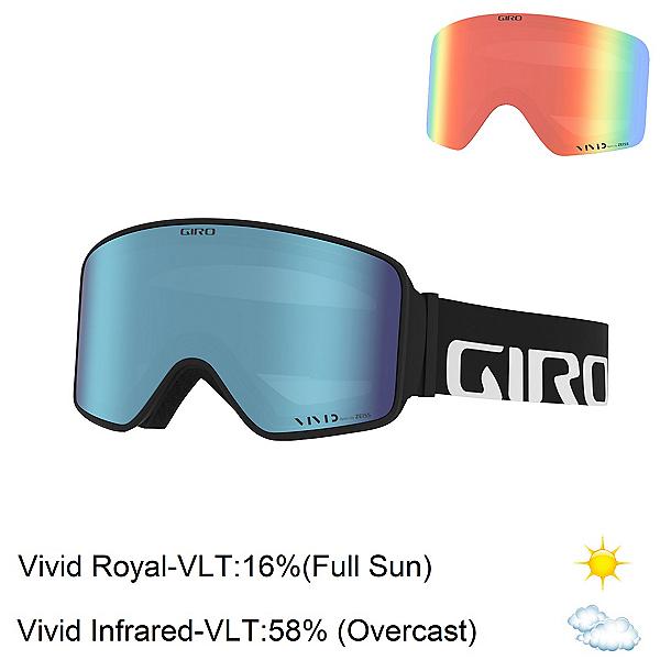Giro Method Goggles 2022, Black Wordmark-Vivid Royal + Bonus Lens, 600