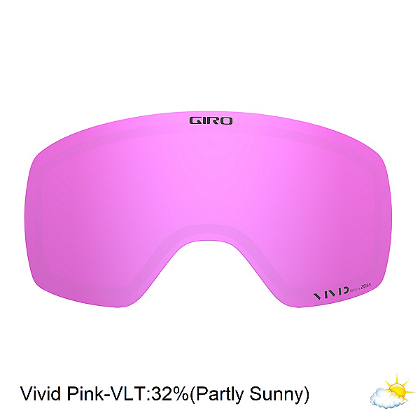 Giro Agent Replacement Lens 2020, Vivid Pink, 600