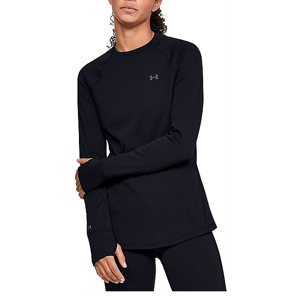 Under Armour Base 2.0 Crew Womens Long Underwear Top 2022, Black-Pitch Gray, 600