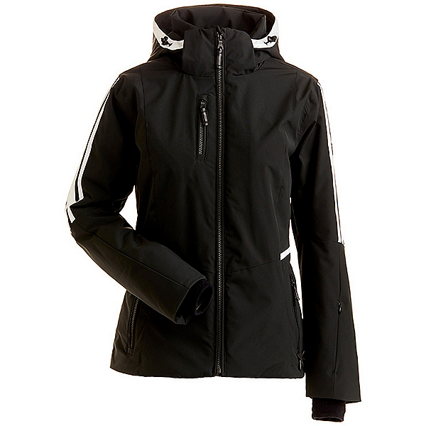 NILS Ester Womens Insulated Ski Jacket, Black, 600