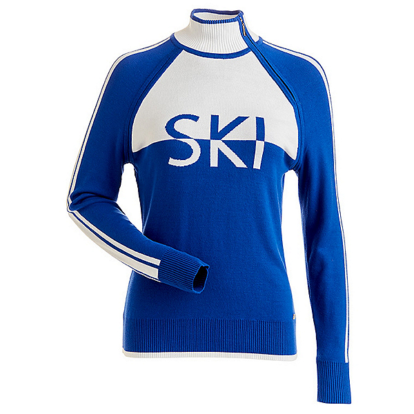NILS Ski Womens Sweater, Lapis-White, 600