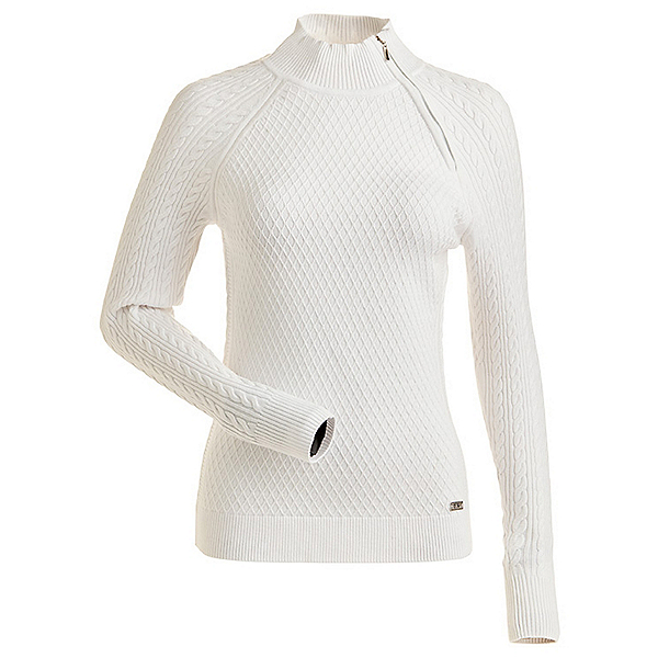 NILS Chanelle Womens Sweater, White-White, 600