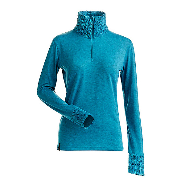 NILS Holly Womens Long Underwear Top, Aqua, 600
