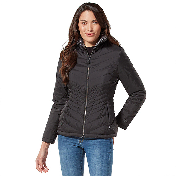 Free Country Cloud Lite Womens Jacket, Black-Mineral Grey, 600