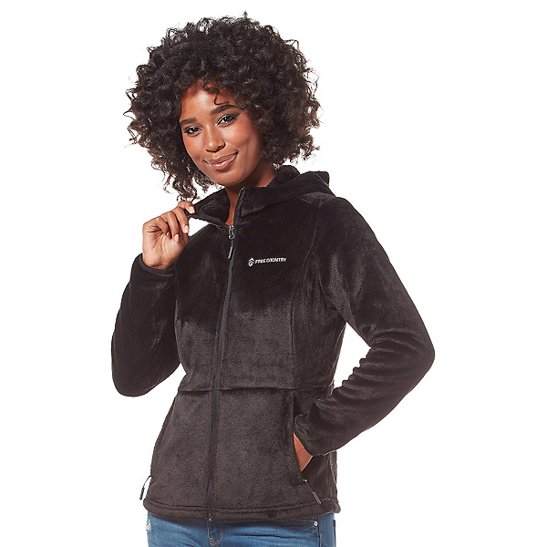 Free Country Heather Butterpile Womens Jacket, Black, 600