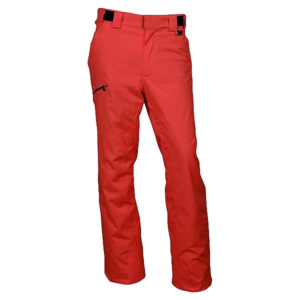 Karbon Silver Trim Fit Mens Ski Pants 2020, Red-Black, 600