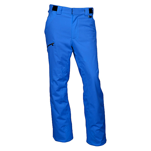Karbon Silver Trim Fit Mens Ski Pants 2020, Olympic Blue-Black, 600