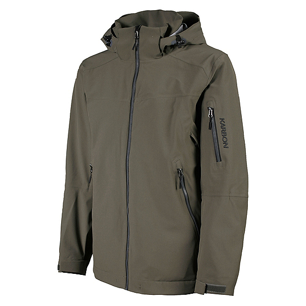 Karbon McKinley Mens Shell Ski Jacket, Loden-Black, 600