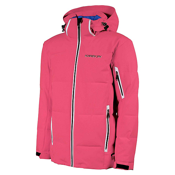 Karbon Thor Mens Insulated Ski Jacket 2020, Electric Pink-Black-Arctic Whi, 600